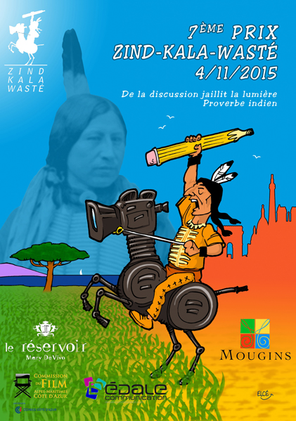Affiche prix Zind-Kala-Wasté le 4 novembre 2015 à Paris et Mougins