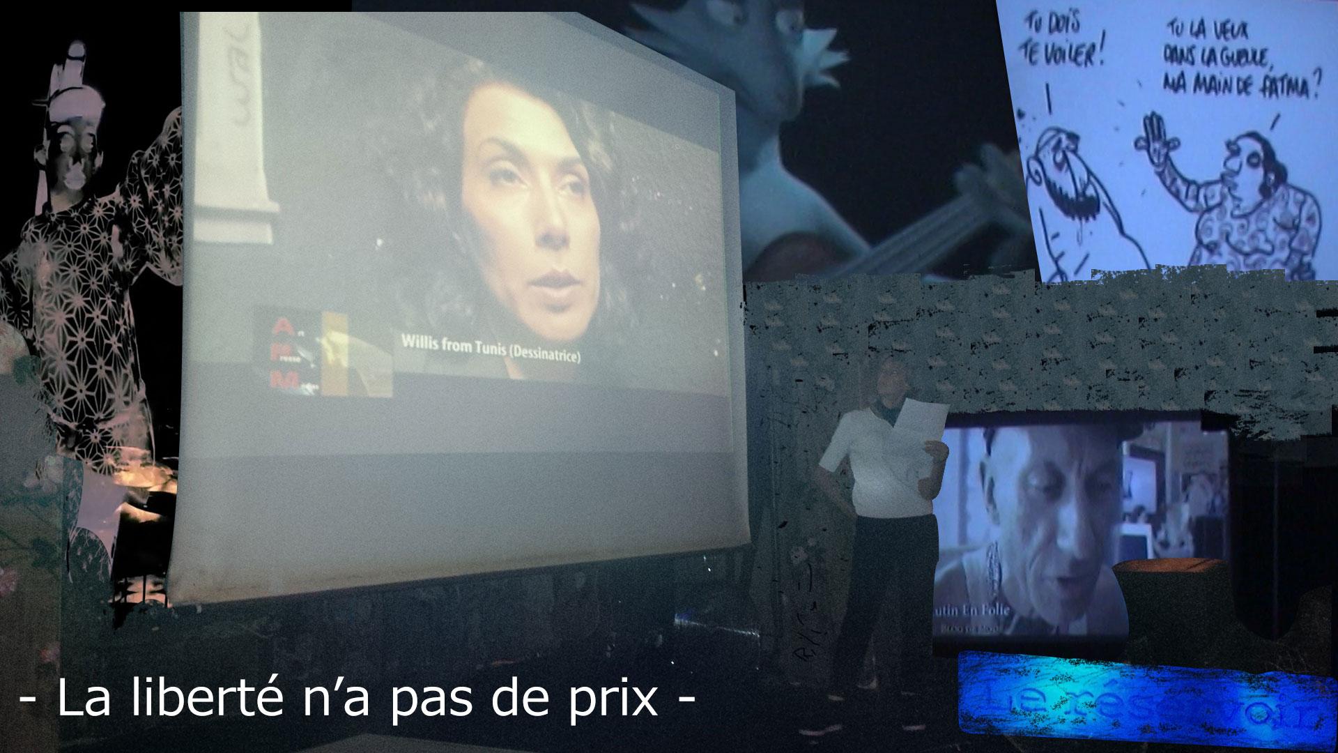 Zind-Kala-Wasté 2015 - Au Réservoir à Paris - Diffusion de plusieurs reportages sur le combat des dessinateurs de liberté en France et à l'étranger.