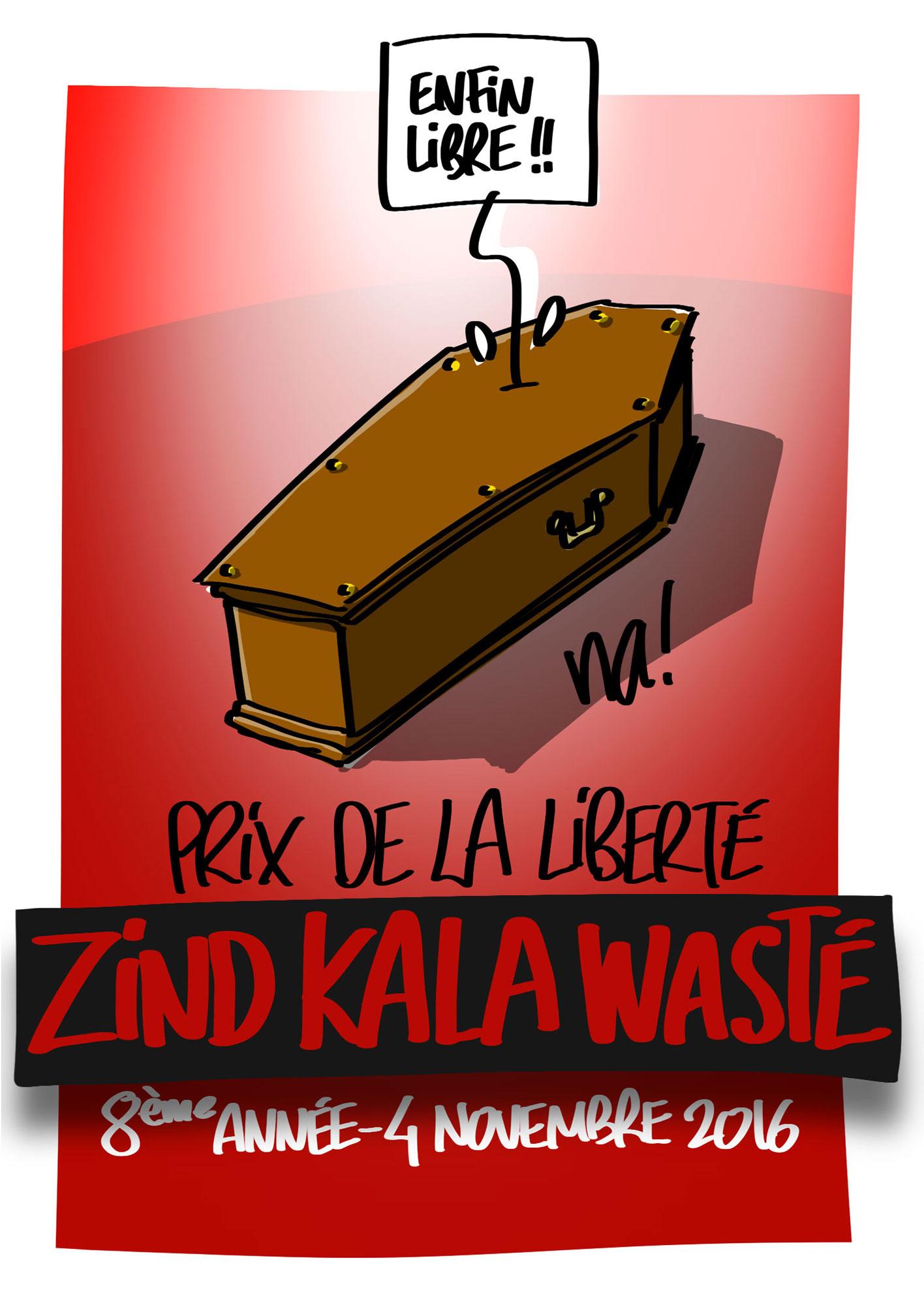 Affiche du dessinateur Na! pour le Zind-Kala-Waste 2016